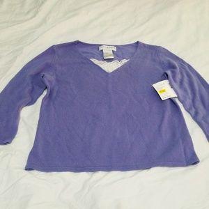 Sag Harbor Petite Medium 3/4 Sleeve Sweater New